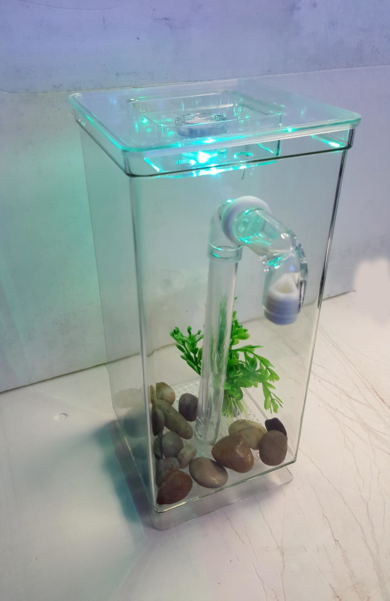 My fun aquariums gravity flow self cleaning tank the for Clean fish tank